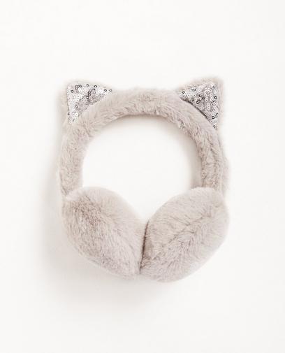 Ohrenwärmer mit Katzenöhrchen